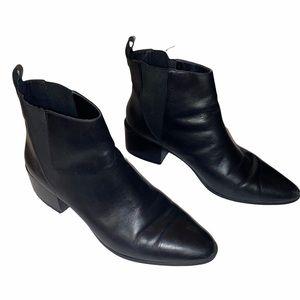 Zara Black Slip on Flat Booties Pointed Toe